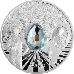 GREAT STAR OF AFRICA Cullinan Most Famous Diamonds 2 Oz Moneda Plata 10$ Cook Islands 2015