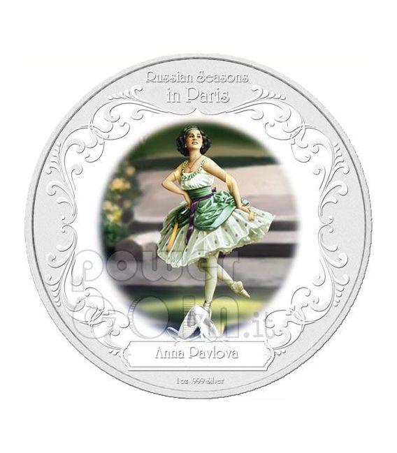 ANNA PAVLOVA Greatest Ballerinas Серебро Монета 2$ Ниуэ 2009