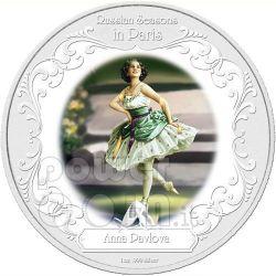 ANNA PAVLOVA Greatest Ballerinas Moneda Plata 2$ Niue 2009