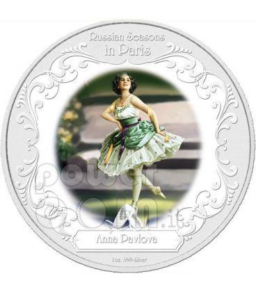 ANNA PAVLOVA Greatest Ballerina Moneta Argento 2$ Niue 2009