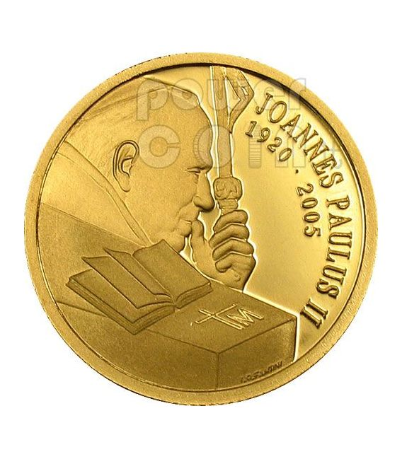 JOHN PAUL II Pope In Memoriam Gold Coin 10$ Cook Islands 2005