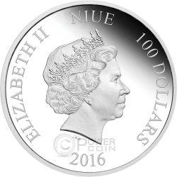 DARTH VADER Dart Fener Star Wars Nuova Speranza 1 Kg Kilo Moneta Argento 100$ Niue 2016