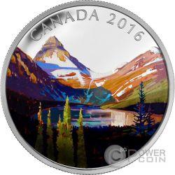 LAKE MAGOG Canadian Landscape Silver Coin 20$ Canada 2016