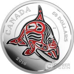 ORCA Mythical Realms Haida Gwaii Moneta 5 Oz Argento 50$ Canada 2016