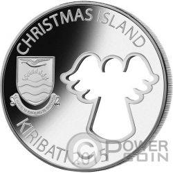 CUT OUT ANGEL Christmas 2 oz Серебро Монета 20$ Кирибати 2015
