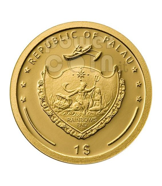 SAINT FRANCIS OF ASSISI Oro Moneda 1$ Palau 2008