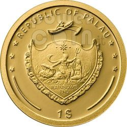 SAINT FRANCIS OF ASSISI Gold Coin 1$ Palau 2008