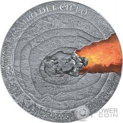 METEORITE CAMPO DEL CIELO 1576 Meteor Crater 1 Kg Kilo Silver Coin 50$ Niue Island 2015