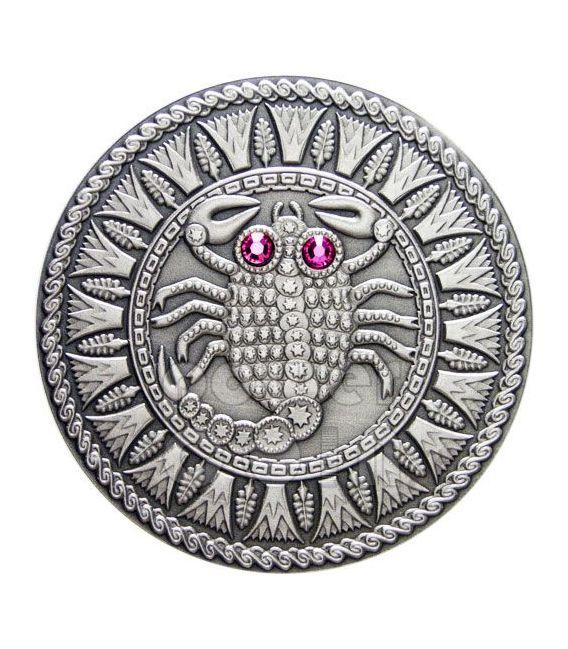 SCORPIO Horoscope Zodiac Swarovski Silver Coin Belarus 2009