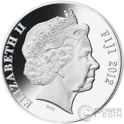DRAGON Mother of Pearl Lunar Year Series 5 Oz Серебро Монета 50$ Фи́джи 2012