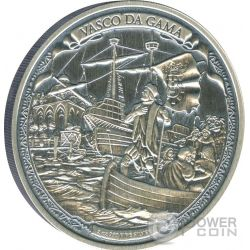 VASCO DA GAMA Journeys Of Discovery 2 oz Moneta Argento 5$ Niue 2016