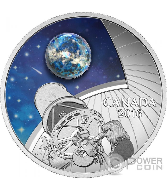 The Universe Opal Glass Glow In The Dark Silver Coin 20