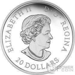 THE UNIVERSE Opal Glass Glow In The Dark Moneda Plata 20$ Canada 2016