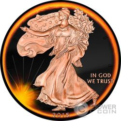 LIBERTY Eclipse of the Sun 1 Oz Silver Coin 1$ US Mint 2015