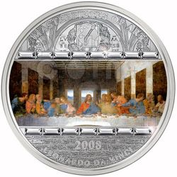 LAST SUPPER Leonardo Da Vinci 3 Oz Silver Coin 20$ Cook Islands 2008