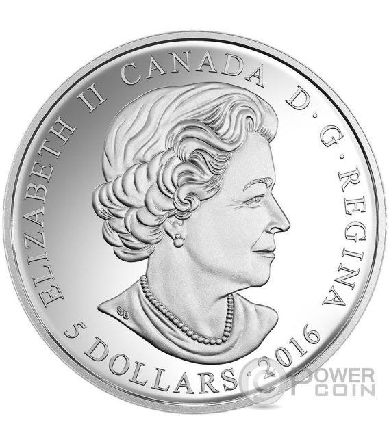 BIRTHSTONES GENNAIO January Gemma Swarovski Moneta Argento 5$ Canada 2016