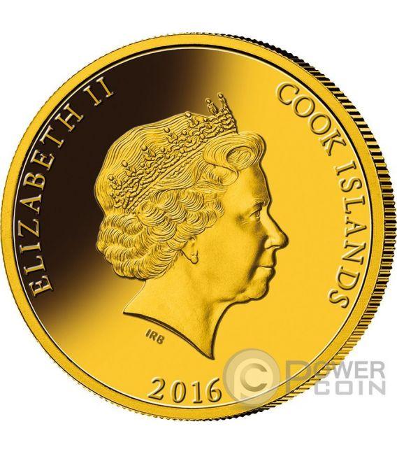 TRANS SIBERIAN RAILWAY Transiberiana 100 Anniversario Madreperla Moneta Oro 5 Oz 200$ Cook Islands 2016