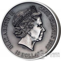 TYR Norse Gods High Relief 2 Oz Silver Coin 10$ Cook Islands 2015