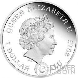 CAPTAIN JONATHAN ARCHER Star Trek Enterprise Moneda Plata 1$ Tuvalu 2015