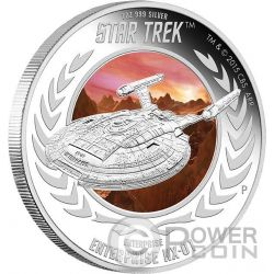 ENTERPRISE NX-01 Spaceship Star Trek Series Silver Coin 1$ Tuvalu 2015