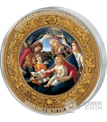 MADONNA OF THE MAGNIFICAT Perfection in Art 2 Oz Moneta Argento 10$ Niue 2015