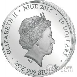 MADONNA OF THE MAGNIFICAT Perfection in Art 2 Oz Moneda Plata 10$ Niue 2015
