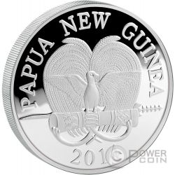 PRECIOUS PEARL CRANES Shell Money Craftsmanship 3 Oz Moneda Plata 10 Kina Papua New Guinea 2014