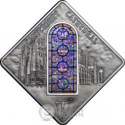 CANTERBURY CATHEDRAL Holy Windows Moneda Plata 10$ Palau 2015