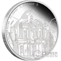 PETRA Forgotten Cities 1 Oz Silver Coin 2$ Niue 2015