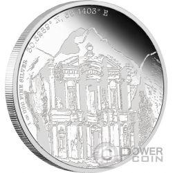 PETRA Forgotten Cities 1 Oz Silver Coin 2$ Niue 2015