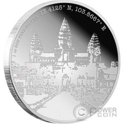 ANGKOR Forgotten Cities 1 Oz Moneta Argento 2$ Niue 2015
