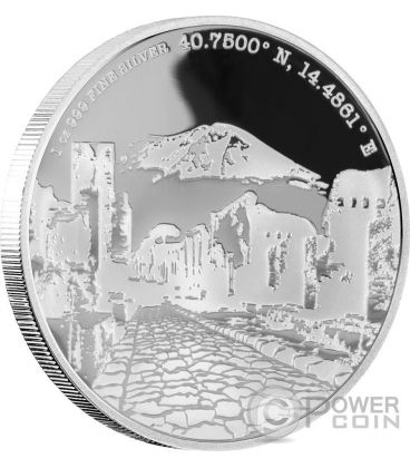 POMPEII Forgotten Cities 1 Oz Silver Coin 2$ Niue 2016
