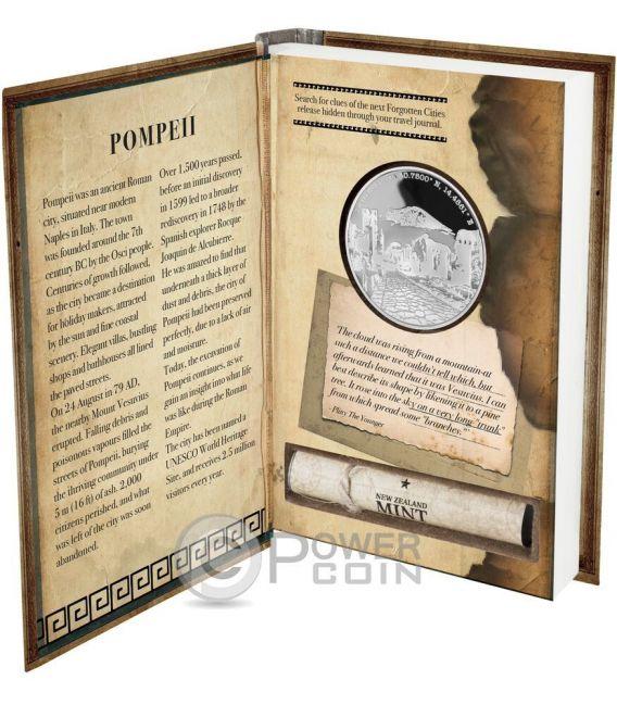 POMPEII Forgotten Cities 1 Oz Moneta Argento 2$ Niue 2016