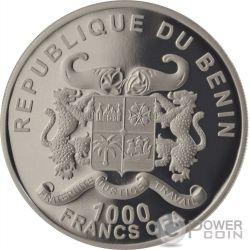 PRESTIGE SET BENIN Protection of Nature Elephant Zebra Rhino 1 oz Silver Coin Benin 2015