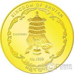 SHAKYAMUNI BUDDHA World Heritage 1/4 Oz Gold Münze Bhutan 2015