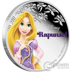 RAPUNZEL Disney Princess 1 oz Silver Proof Coin 2$ Niue 2016