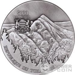SIKHOTE ALIN Meteorite Art 5 Oz Moneta Argento 5000 Franchi Ciad 2015