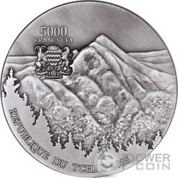 SIKHOTE ALIN Meteorite Art 5 Oz Silber Münze 5000 Francs Chad 2015