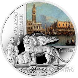 DOGE PALACE SOS Venice Palazzo Ducale 1 Oz Moneta Argento 2$ Niue 2015