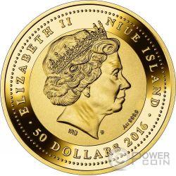 DOGE PALACE SOS Venice Palazzo Ducale Moneta Oro 50$ Niue 2016