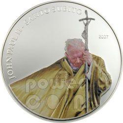 SANTO SUBITO Pope John Paul II Moneda Plata 1$ Palau 2007