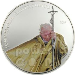 SANTO SUBITO Pope John Paul II Серебро Монета 1$ Палау 2007
