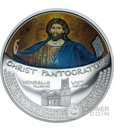 CHRIST PANTOCRATOR Mosaico Abside Convessa 1 Oz Moneta Argento 5$ Cook Islands 2016