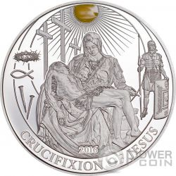CRUCIFIXION OF JESUS Biblical Stories Silver Coin 2$ Palau 2016