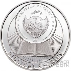 CRUCIFIXION OF JESUS Biblical Stories Серебро Монета 2$ Палау 2016