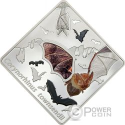THE BAT Animals In Glass Pipistrello Ali di Vetro Moneta Argento 10$ Palau 2016