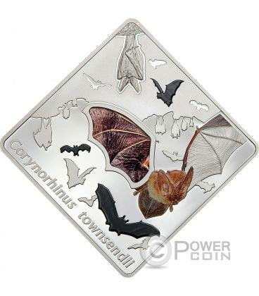 THE BAT Animals In Glass Pipistrello Ali di Vetro Moneta Argento 10$ Palau 2016