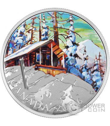 SKI CHALET Canadian Landscape Moneta Argento 20$ Canada 2016