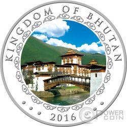 LUNAR MONKEY 5 Oz Moneda Plata 1000 Nu Bhutan 2016