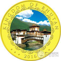 LUNAR MONKEY Scimmia Moneta Oro 1000 Nu Bhutan 2016
